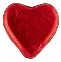 PLM30 PINK LADY MILK CHOCOLATE HEART 30G RED (40PCE)