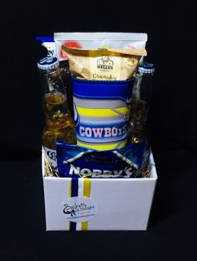 22 - BEER HAMPER TRAY - COWBOYS