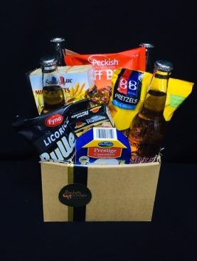 85 -BEER AND TREATS HAMPER BOX