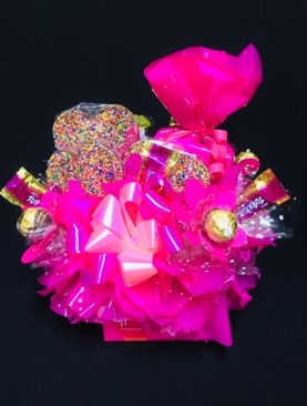 99 - INDULGENT CHOCOLATE BOUQUET - PRETTY IN PINK