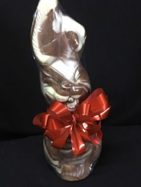 17 - HAPPY EASTER BUNNY - 1KG MARBLE CHOCOLATE